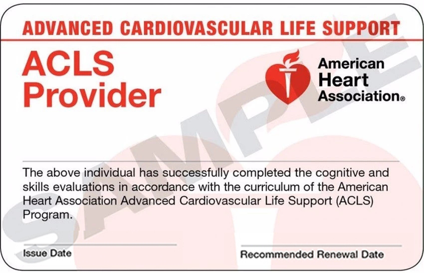 美国心脏协会高级生命支持ACLS急救证书
